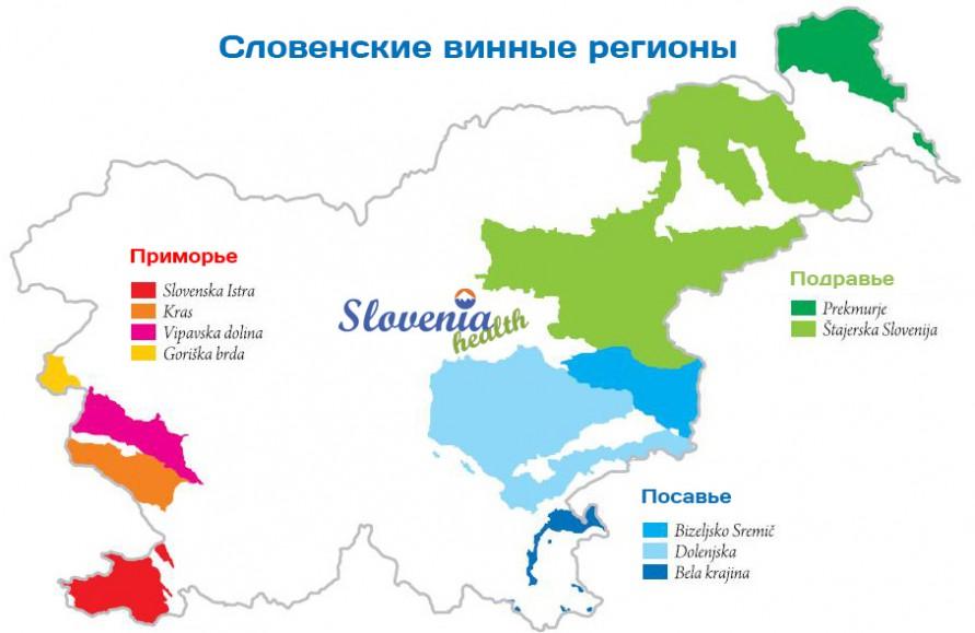 Винные регионы Словении